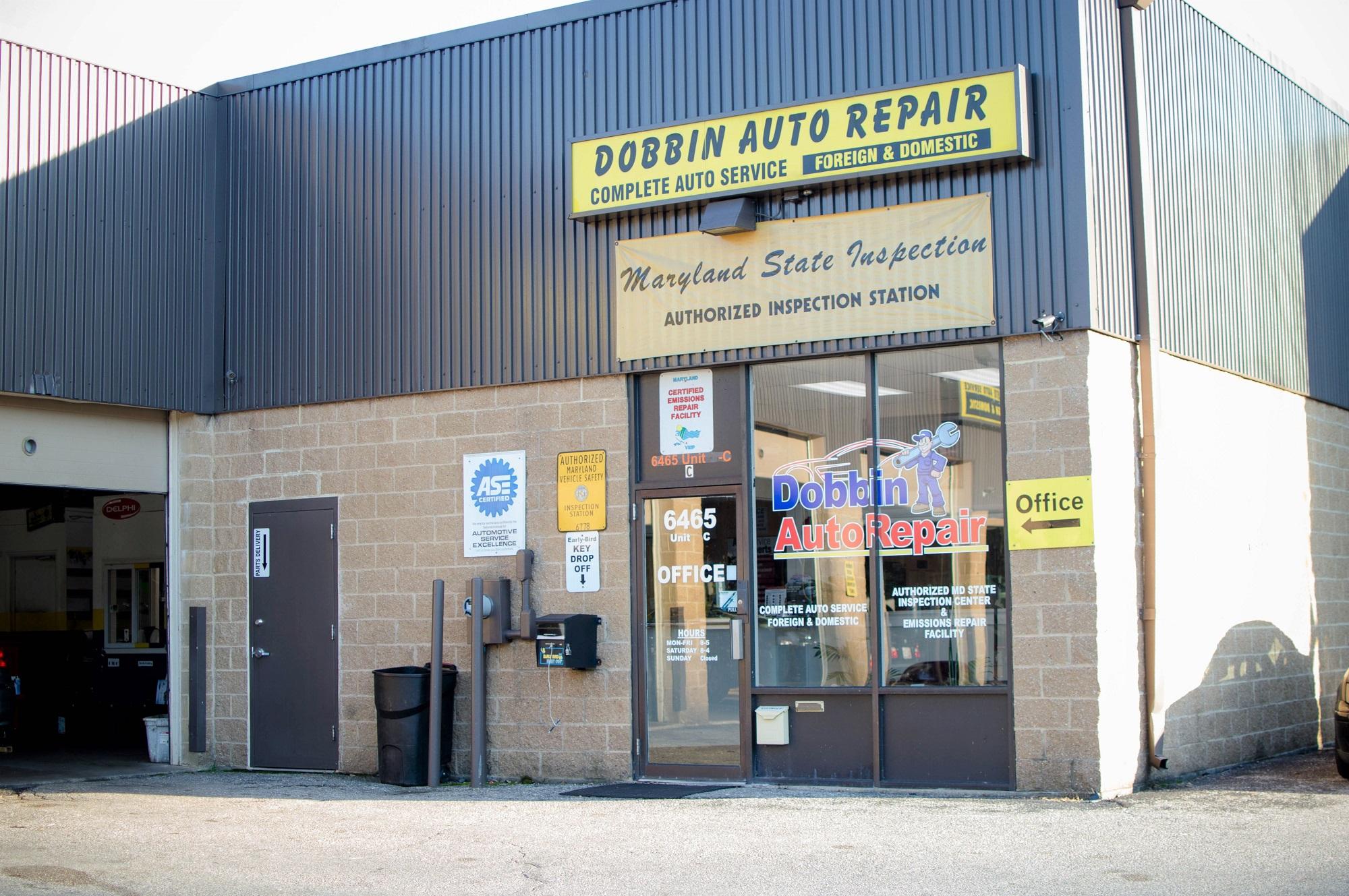 Dobbin Auto Repair Front Entrance-min